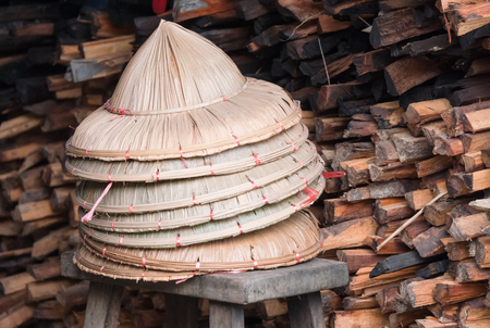 Hats in the ancient Tanintharyi Town, typical for the Tanintharyi Region of Southern Myanmar.