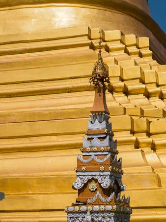 Detail of the Shwe Sayan Pagoda in Dala Township, across the Yangon River from Yangon.