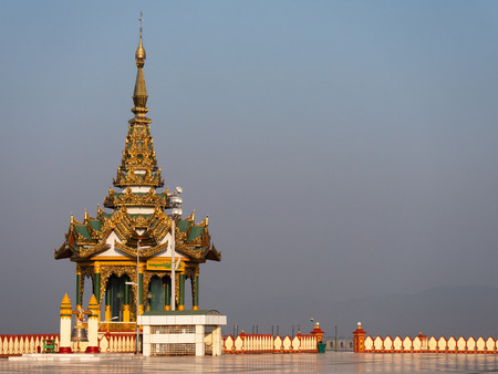 Pavilion at the Ouparta Thandi Zedi pagoda in Naypyidaw, the capital of Myanmar.