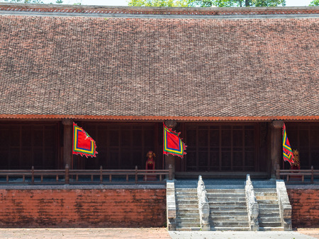 The Lam Kinh temple in Xuan Lam and Lam Son townlet of Tho Xuan district, Thanh Hoa, Vietnam. The temple was built by national hero Le Loi during the early 15th century after he excpelled the Chinese and obtained independence for the country.