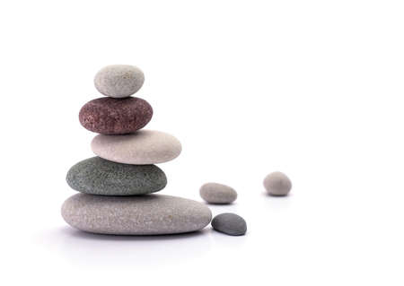 spirituality therapy: spa stones isolated white background