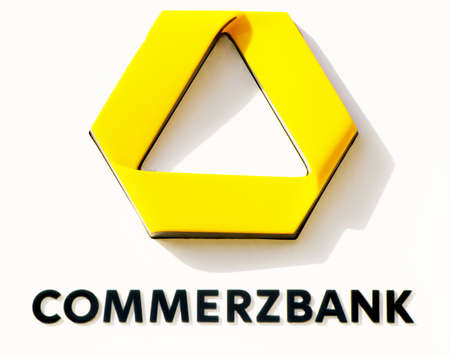 ag: ROSTOCK, GERMANY - MAY 12, 2016: Commerzbank AG, German global banking and financial services company. Editorial