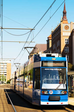 6 12: ROSTOCK, GERMANY - MAY 12, 2016: Rostocker Strassenbahn AG - RSAG - is the transport company in the city of Rostock and operates 6 tram and 22 bus lines. Editorial