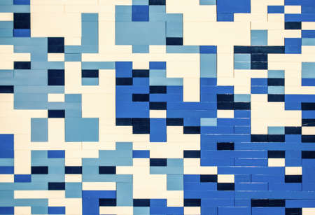 plastik: Abstract geometric background, plastik blocks and brick mosaic