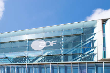 HAMBURG, GERMANY - MAY 22, 2016: Modern architecture of ZDF television offices in Hamburg. German TV Editorial