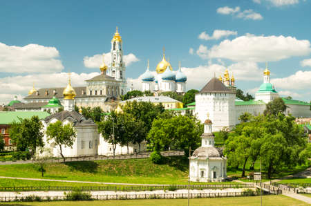 View of the Trinity Lavra of St. Sergius - Monastery in the town of Sergiyev Posad, Russia Standard-Bild