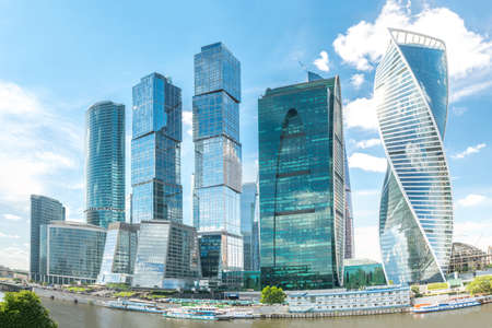 international business center: Panoramic Moscow International Business Center, Skyscrapers of Moscow City, Russia Stock Photo