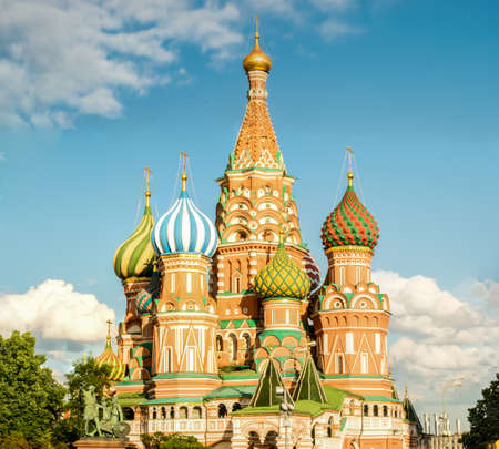 Saint Basils Cathedral in Red Square. Moscow, Russia. Stock Photo