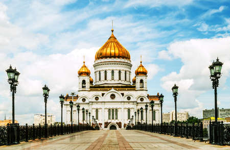 russian orthodox: Russian Orthodox Cathedral of Christ the Saviour. Russia, Moscow