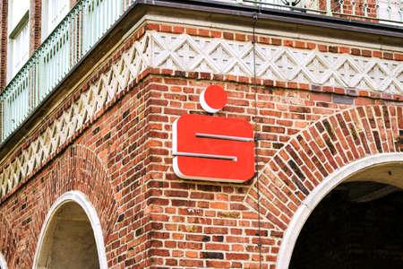 Rostock, Germany - August 22, 2016: Office of OSPA Sparkasse in Rostock