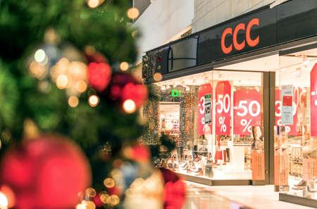 Rostock, Germany - December 09, 2016 Christmas shopping center Christmas sales