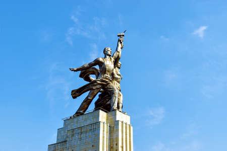 Moskau, Russia - July 22, 2016: Famous soviet monument Rabochiy i Kolkhoznitsa. Worker and Kolkhoz Woman.