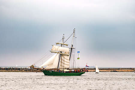Rostock, Germany - August 2016: Sailing ship Avatar on the baltic sea.
