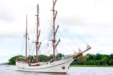 Rostock, Germany - August 2016: sailing ship Artemis