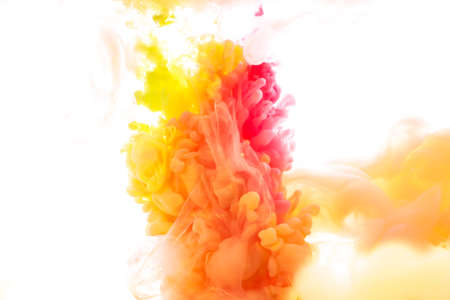 Ink in water. abstract background Stock Photo