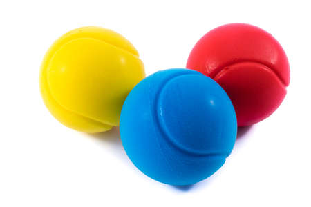 remedial: Yellow,blue and red stressballs.Physiotherapy and  alternative medicine.