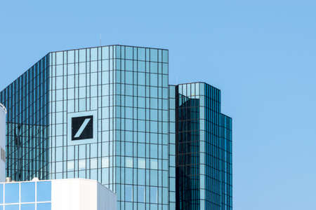 Frankfurt, Germany - July 27, 2017: Deutsche Bank headquarter building in Frankfurt at Main. Editorial