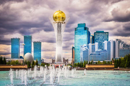 Astana, Kazakhstan - August 10, 2017: View to Bayterek and Astan Redakční