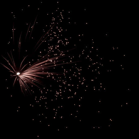 celebration with fireworks in the new years eve Stock Photo