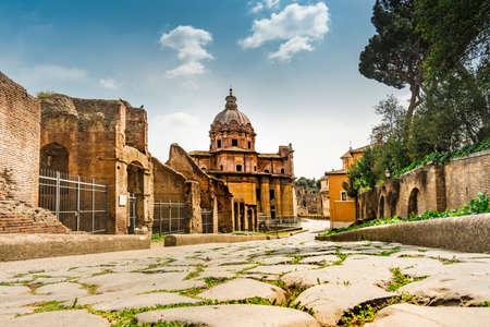 Roman Forum in Rome. Italy capital landmarks. Archivio Fotografico