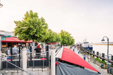 Rostock, Germany - Juny 20, 2018: Rostock Warnemuende