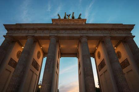 Berlin Brandenburg Gate at night. Berlin, Germany