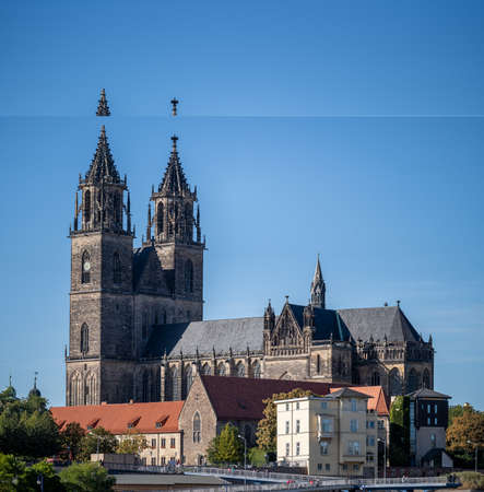 Cathedral of Magdeburg. travel, architecture, and famous places of Germany 版權商用圖片