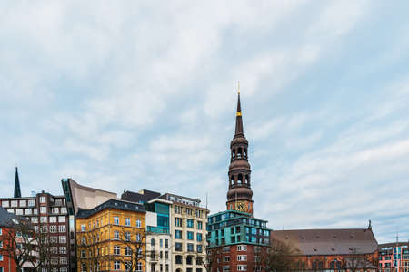 Hamburg city warehouse district. Travel and architecture