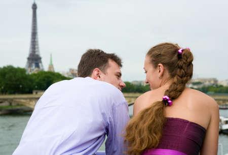 Romantic couple in Paris  photo