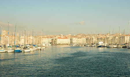 Old port (Vieux Port) in Marseille, France photo