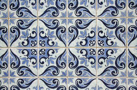 Traditional Portuguese azulejos - painted ceramic tilework Stock Photo - 10410915