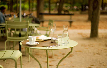 parisian: Street cafe in the Luxembourg garden, Paris, France