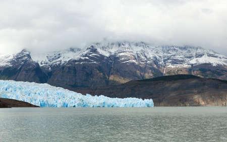 Grey glacier in Patagonia, Chile, South America photo