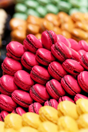 macaroon: Assortment of multicolored macaroon cookies