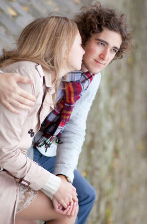 Young couple in love, having a date Stock Photo - 11258363