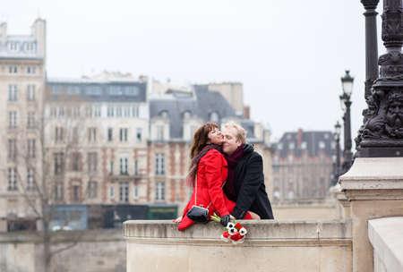 Beautiful romantic couple having a date photo
