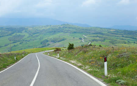 Typical Tuscany road photo