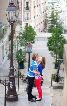 Happy together in Paris, on Montmartre photo
