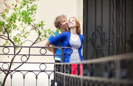 Romantic couple happy together in Paris Stock Photo - 13703464