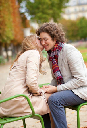Romantic couple in a park, having a date Stock Photo - 13998119
