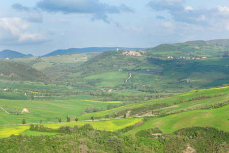 Scenic Tuscan landscape near Pienza photo
