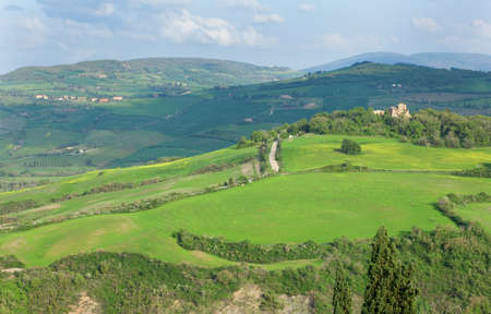 Scenic view of Tuscan hills photo