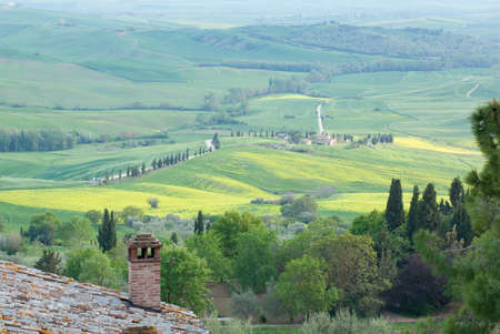 Typical scenic Tuscan view photo