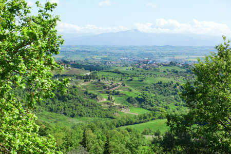 Typical Tuscan landscape with beautiful hills photo