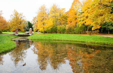 Autumn in Pushkin, Saint-Petersburg, Russia Stock Photo - 15776054