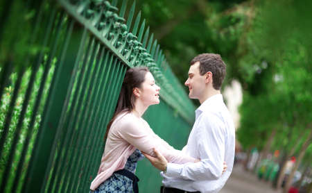 Beautiful dating couple outdoors in Paris Stock Photo - 17158585