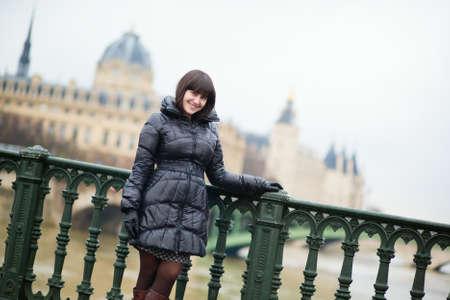 Young beautiful tourist in Paris photo