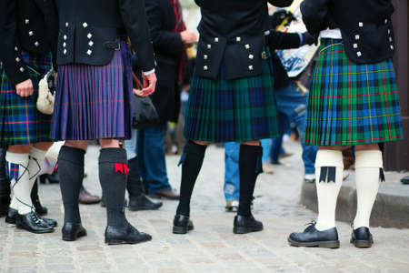 Men in traditional kilts photo