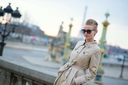 parisian: Young Parisian woman in the sunglasses