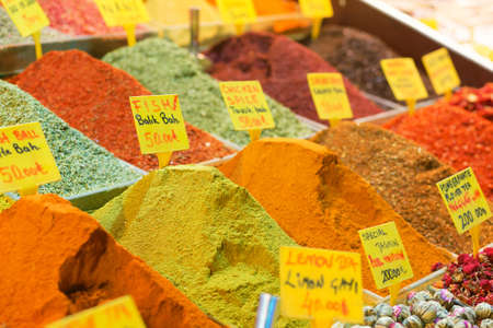 flavoring: Spices on the spice market of Istanbul
